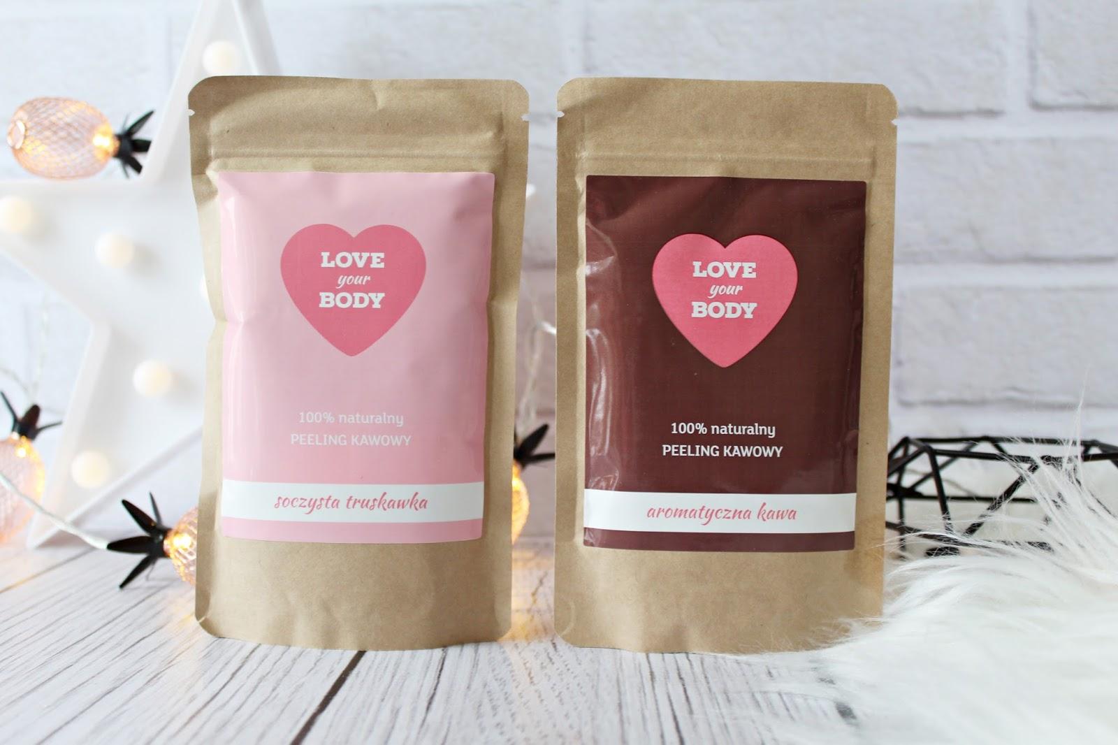 Soczysta truskawka, aromatyczna kawa - PEELING KAWOWY - LOVE YOUR BODY