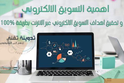 اهمية التسويق الالكتروني في تحقيق اهداف التسويق الالكتروني عبر الانترنت