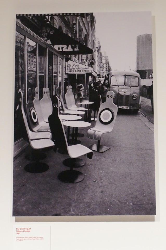 """siège Zombie pour le bar  """"L' Astroquet"""" - Roger Tallon - 1969"""