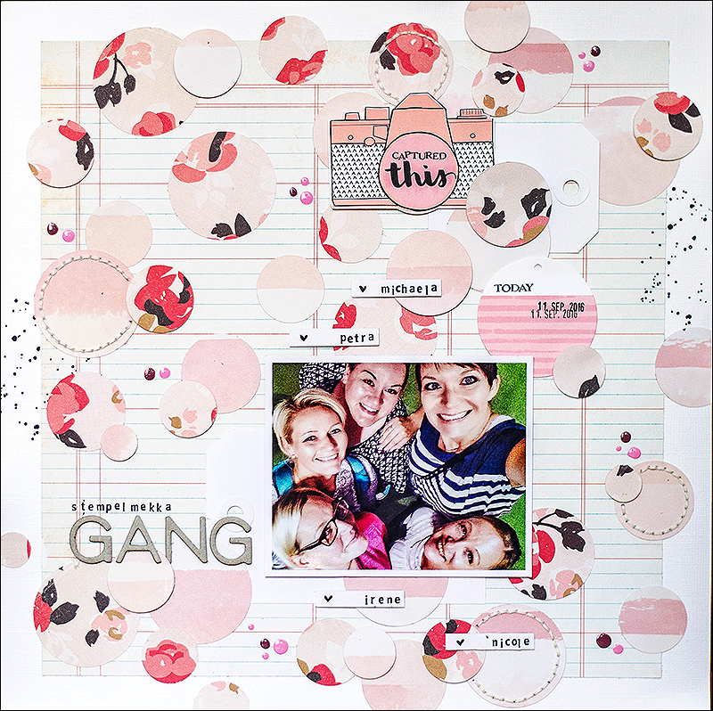 Stephanie Berger - Scrapbooking Layout - Stempelmekka Gang