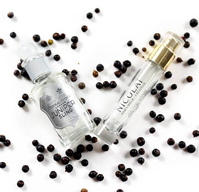 Moje ulubione perfumy w czerwcu, czyli Penhaligon's Juniper Sling i Nicolai Cuir Cuba Intense