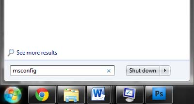 Msconfig - Tip mempercepat waktu loading Booting windows 7