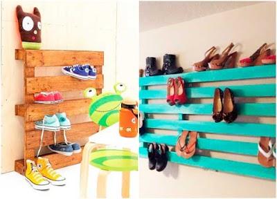 Como hacer estantes de zapatos con un Palet