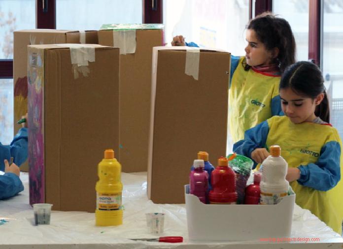 DIY disfraz con una caja