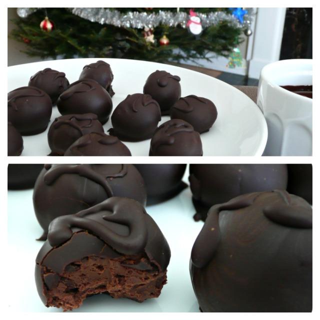 Truffes double chocolat sans gluten - vegan