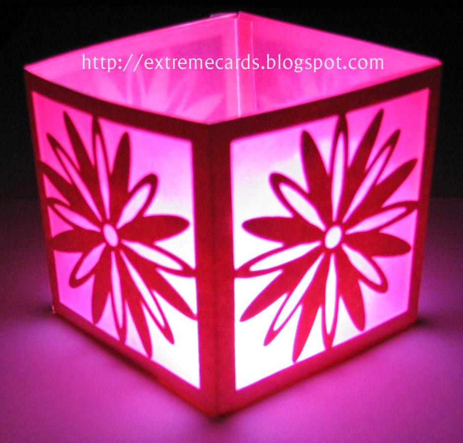 tealight daisy lantern