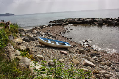 Barca solitaria a Marina di Pisciotta