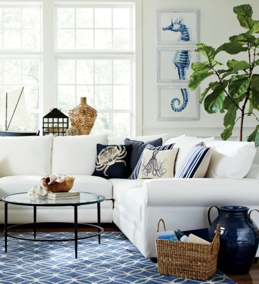 Coastal Blue Art Ideas for Living Room