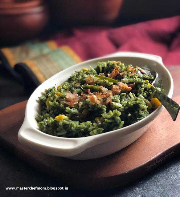 Palak Makai Rice Recipe