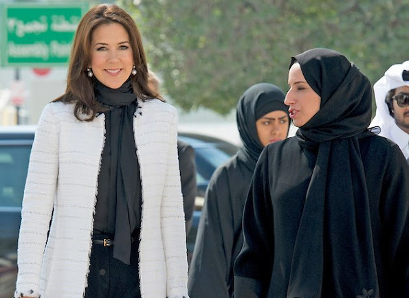 Crown Princess Mary of Denmark visits the Qatar Academy in Doha