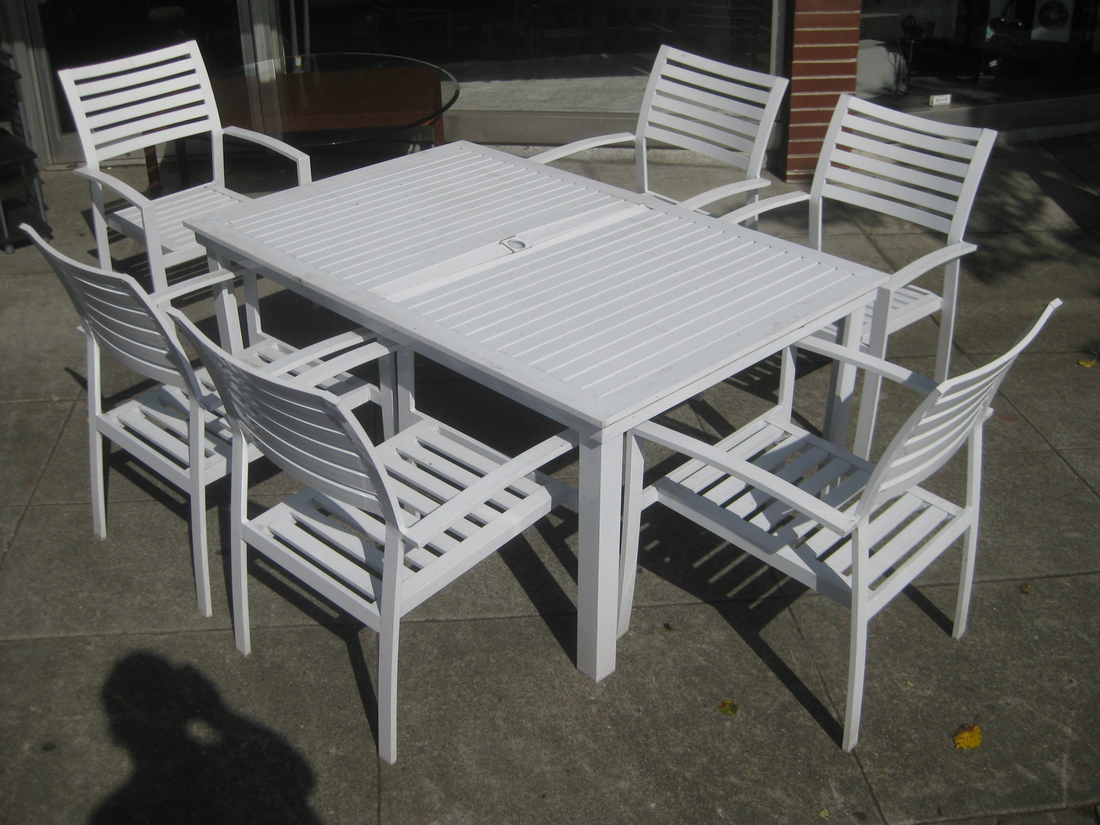Metal Garden Table Chairs Chair Caning Kit Uhuru Furniture And Collectibles Sold