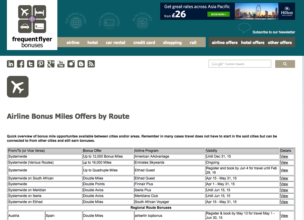 Miles And More Car Rental Frequent Flyer Bonuses The Pages On Ffb You Should Always Keep An