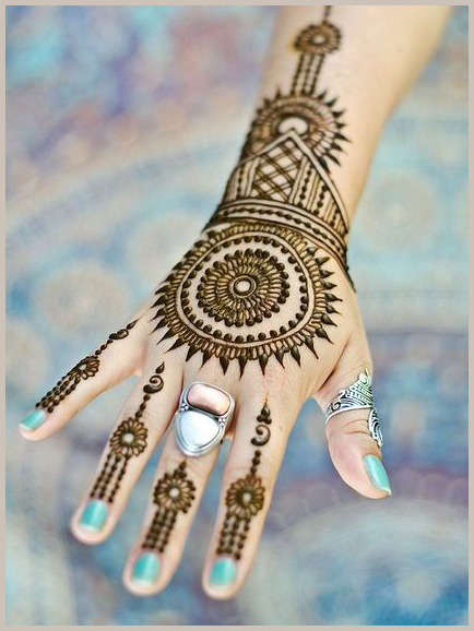 Ornate Circle I Beautiful, easy and simple bridal mehendi/mehandi designs for hands.