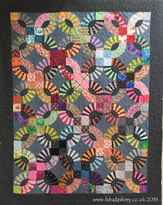Pickle Dish quilt made by Sherry, quilted by Frances Meredith at Fabadashery Long Arm Quilting