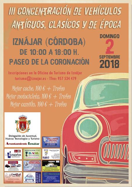 Concentración de vehículos antiguos y de época Iznájar 2018