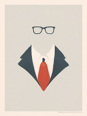 """Clark Kent  Superman"" DC Comics Screen Print by Patrik Svensson x Bottleneck Gallery"