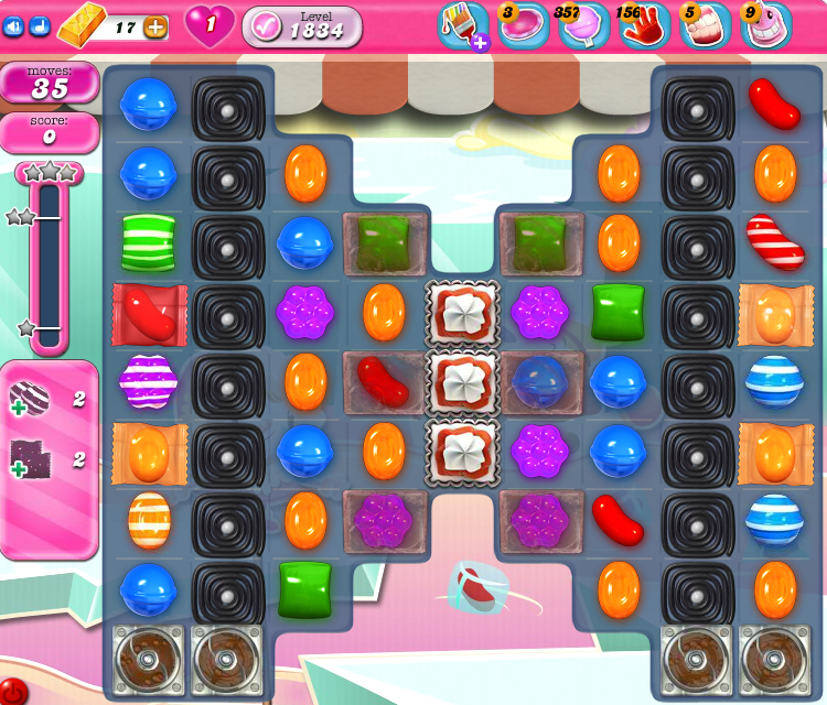 Candy Crush Saga 1834