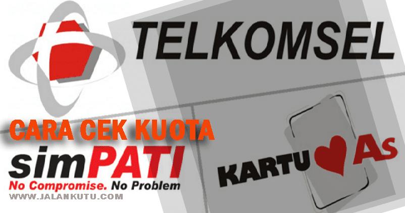 Anda tidak perlu takut kehabisan pulsa dan penagihan melebihi batas. Cara Cek Kuota Telkomsel Simpati/AS - JalanKutu.com ...