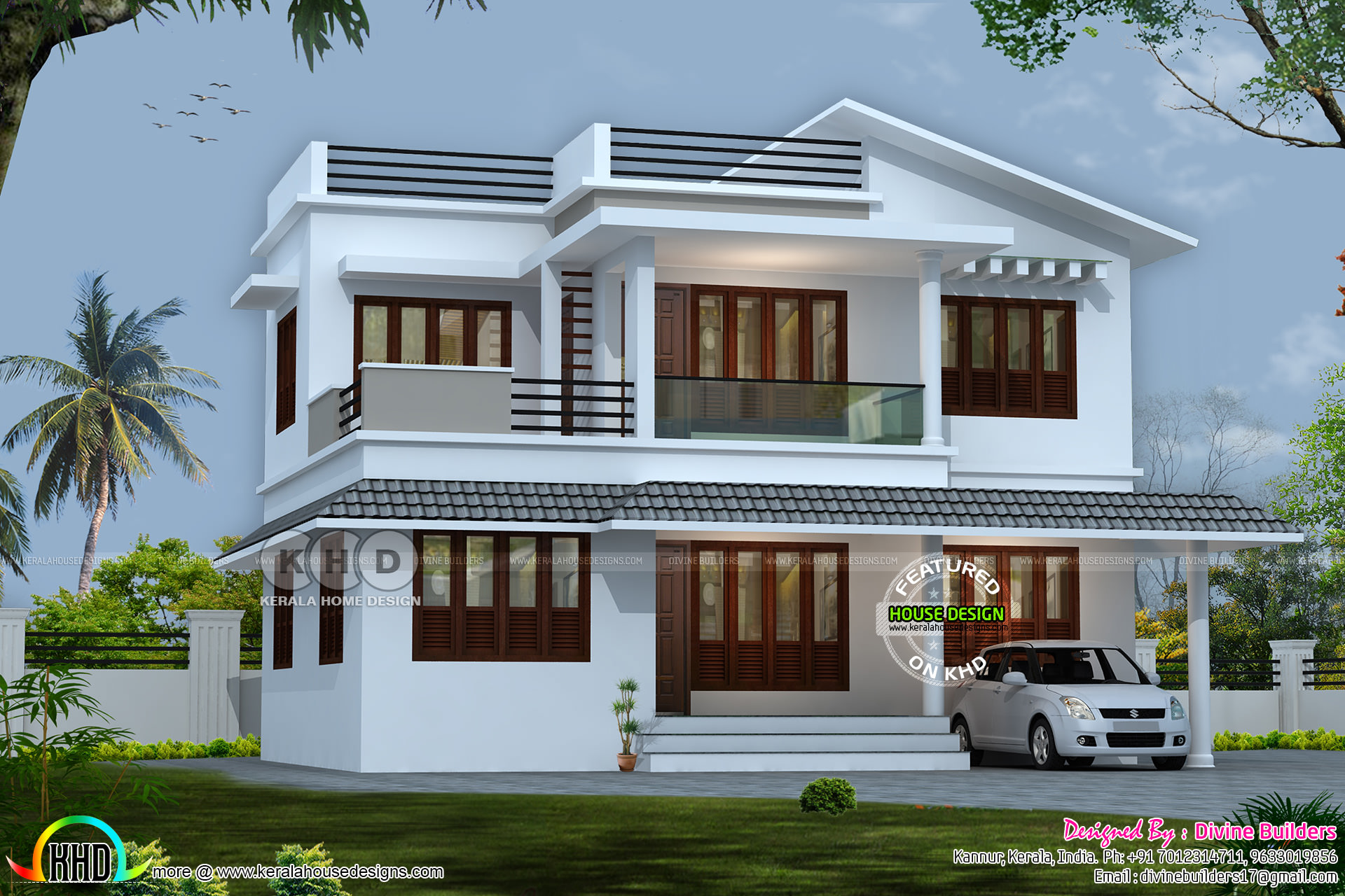 5 bhk modern flat roof house in an area of 2070 sq ft