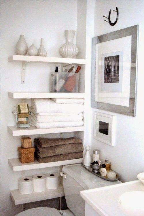 Si quieres tener un baño elegante consigue una zona de almacenaje