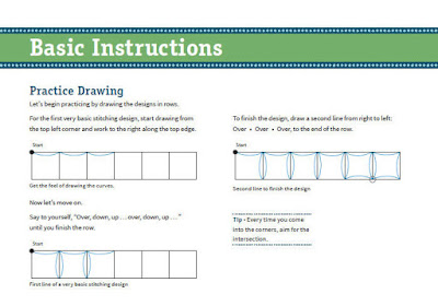 Making Connections Free Motion Quilting Workbook basic instructions