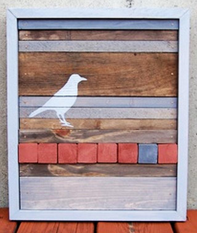 Sunset Coast: DIY Reclaimed Wood Wall Art