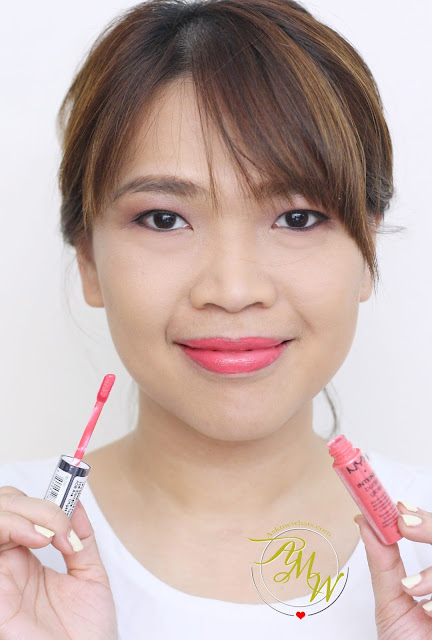 a photo of Askmewhats wearing NYX Intense Butter Lipgloss in Napoleon Review
