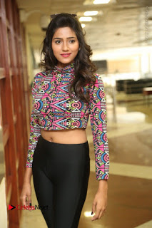 Actress Shalu Chourasiya Stills in Black Leggings at Marriage Needs Bridal Fashion Week 2017 Logo Launch  0044.JPG