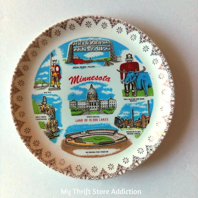 vintage Minnesota souvenir plate