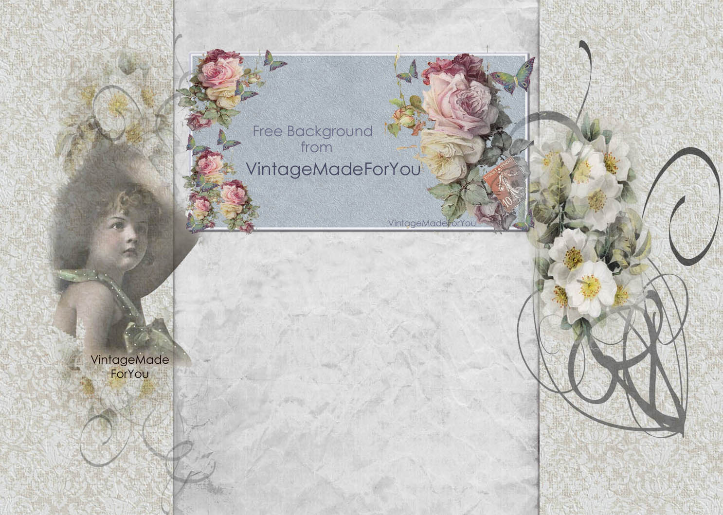 vintagemadeforyou free background to blogger 2 columns shabby chic and vintage girl. Black Bedroom Furniture Sets. Home Design Ideas