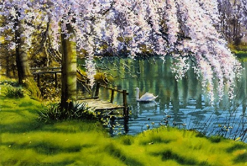 24-Blossom-Joe-Francis-Dowden-Photo-Realistic-Watercolour-Paintings-www-designstack-co