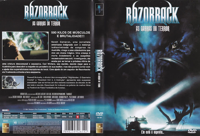 Capa DVD Razorback As Garras Do Terror