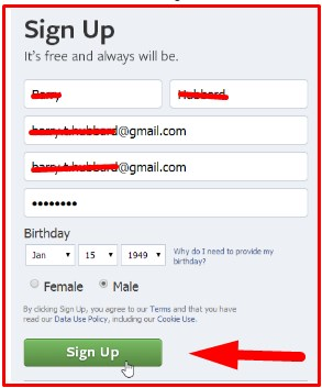 facebook log in sign up more