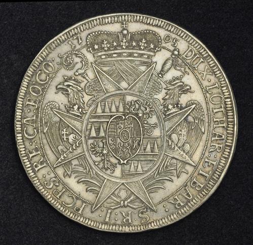 Olmutz Silver Thaler Coin 1705 Charles Iii Of Lorraine