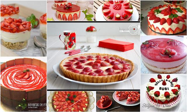 Tartas de fresas. Julia y sus recetas
