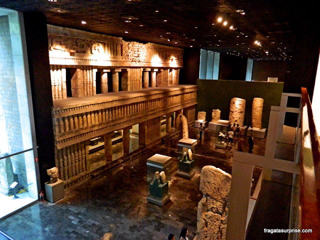 Sala da Cultura Maia no Museu Nacional de Antropologia do México