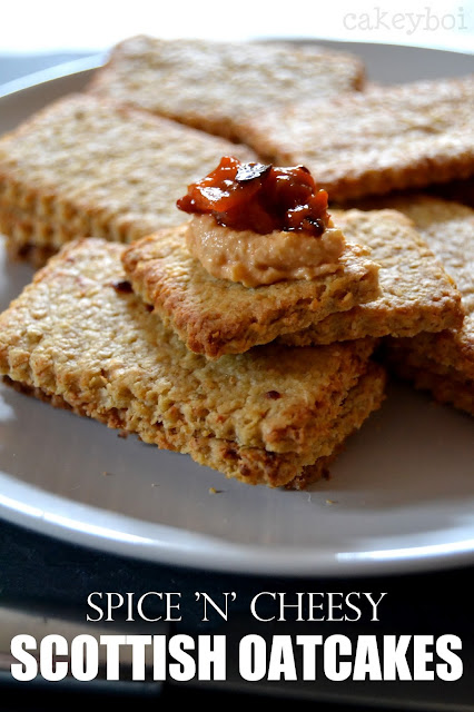 spicy cheese oatcakes