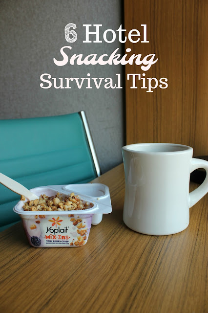 Eat better away from home with these tips for hotel snacking survival. They are perfect for the professional or traveling mom!