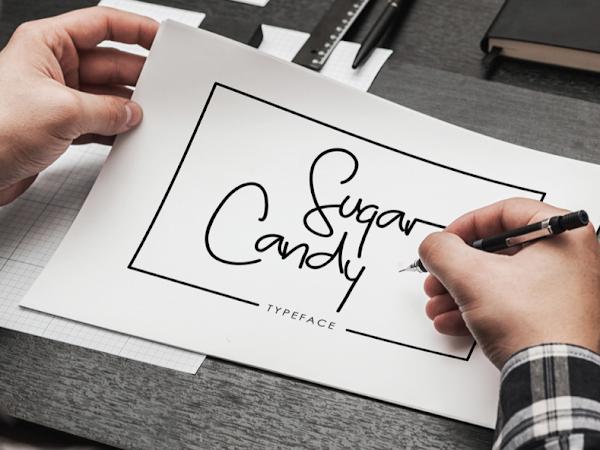 Download Sugar Candy Signature Font Free