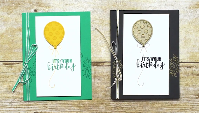 A color scheme switch shared by Shannon West of Stampin' Up! using the Balloon Adventures set shared by Darla Olson at inkheaven