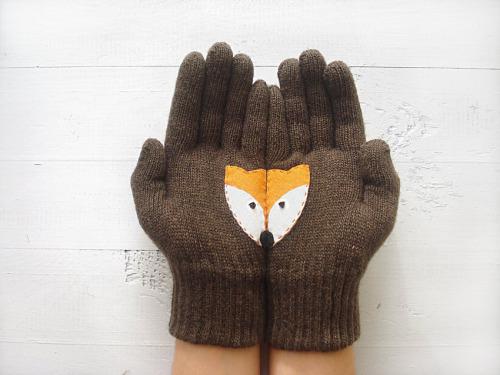 Lindos guantes de tejidos de punto que derretirán tu corazón