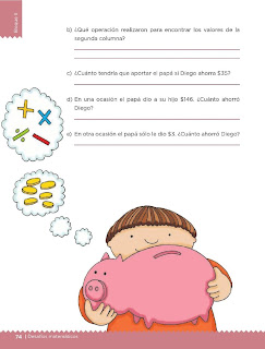 Apoyo Primaria Desafíos Matemáticos 5to. Grado Bloque II Lección 33 El ahorro