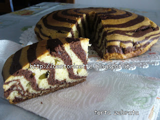 Torta zebrata senza latte