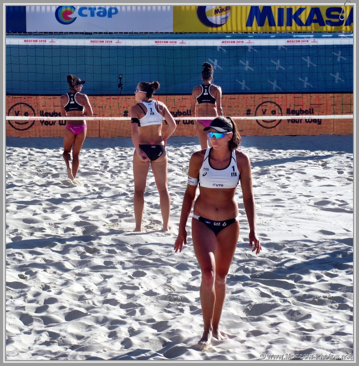 Marta Menegatti and Viktoria Orsi Toth - Italian Team at FIVB Beach Volleyball World Tour in Moscow 2018