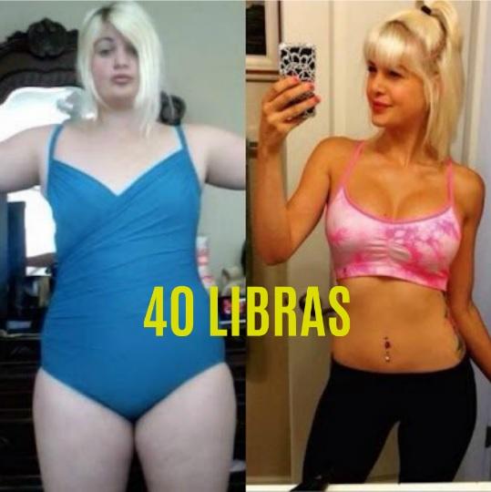 perder 40 libras en un mes