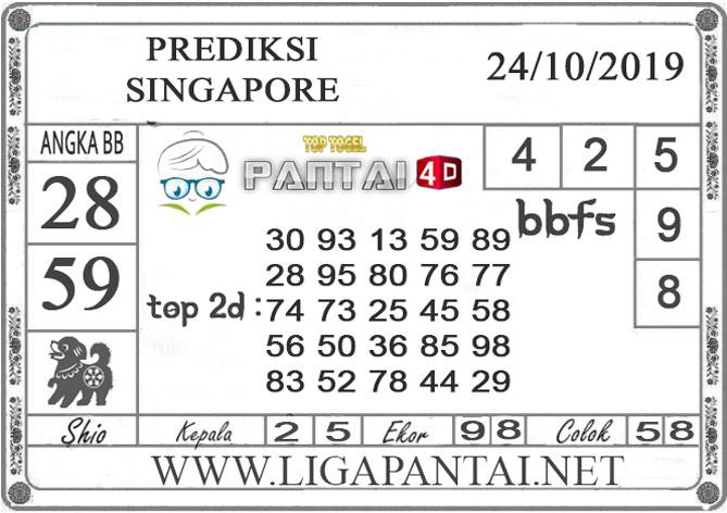 """PREDIKSI TOGEL """"SINGAPORE"""" PANTAI4D 24 OKTOBER 2019"""
