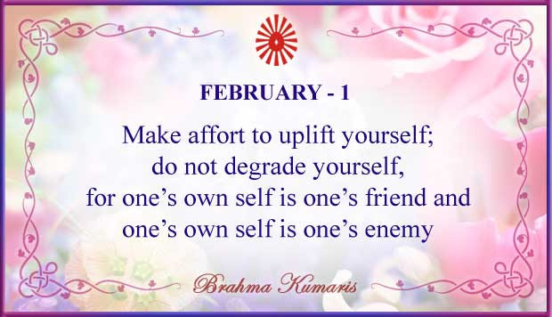 Thought For The Day February 1