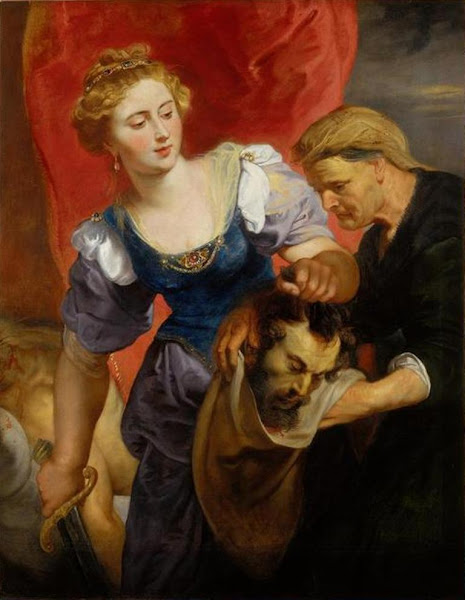 Judith with the Head of Holophernes, Peter Paul Rubens, Macabre Art, Macabre Paintings, Horror Paintings, Freak Art, Freak Paintings, Horror Picture, Terror Pictures