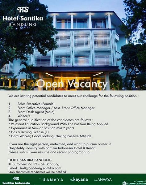 Loker Hotel Surabaya 2021