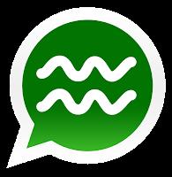 Iconos de los signos zodiacales para promocionar grupos de Whatsapp de acuario
